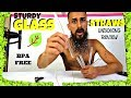 Unboxing MOSOLAN Handmade Glass Straws Clear Straight 8.5 Inch Reusable Sturdy Review 5 Pack