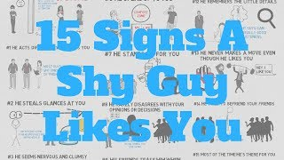 Signs A Shy Guy Likes You 15 Signs To Pick Up
