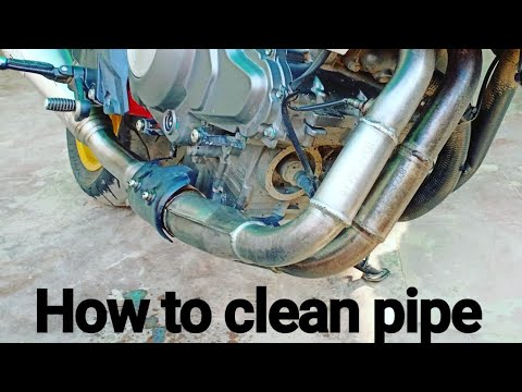 How to clean exhaust pipe