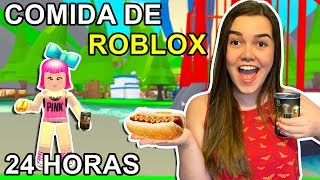 24 HOURS EATING ONLY ROBLOX FOOD IN REAL LIFE (ADOPT ME)