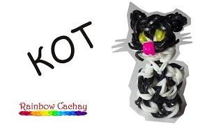 Плетение кота ( кошки, кошечки, котика ) из Rainbow Loom Bands! Плетение из резинок.
