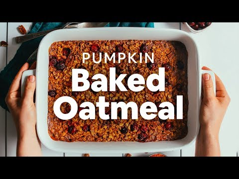 Pumpkin Baked Oatmeal   Minimalist Baker Recipes