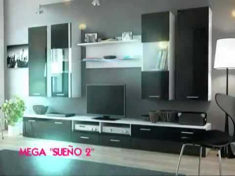 Muebles tv led mesas tv mega cell youtube - Muebles modernos para television ...