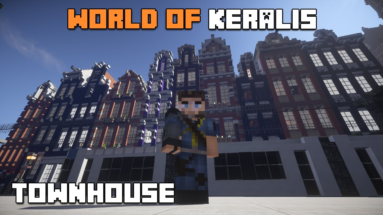 Minecraft world of keralis townhouse part 1 youtube for Keralis modern house 9 part 1