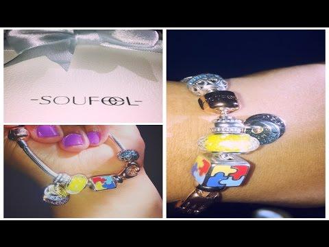 Soufeel Charm Bracelet Unboxing ♡ #AutismAwareness #Birthstone Customized #MuranoGlass