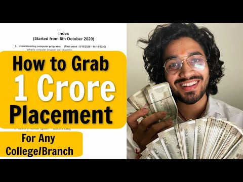 How to get a Rs1 Crore Placement | Step by step RoadMap | How to Crack Dream Companies