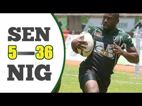 Africa Rugby 7s 2016 Senegal  5 vs  36 Nigeria