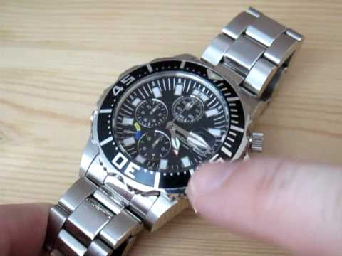 Invicta watch japanese quartz chronograph movement youtube for Celebrity quartz watch japan movt