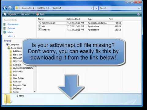 adbwinapi.dll - Download the missing dll file - YouTube