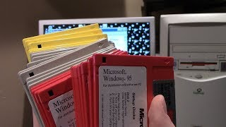 Installing Windows 95 From 29 Floppy Disks - An Attempt