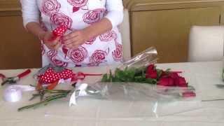 Ramo de rosas - DIY bouquet of roses