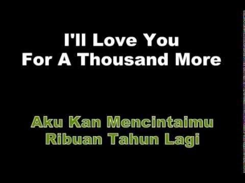 A Thousand Years - Christina Perri Lyrics   Terjemah - Populer YouTube