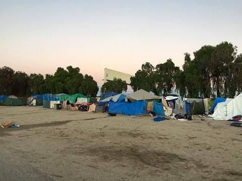 Gigantic Tent City Anaheim, CA OUTREACH!