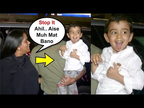 Arpita Khan Shouts At Son Ahil Sharma For Making Funny Faces To Media