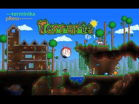 Terraria epizód 1-A kezdet izgalmai!  Magyar kommentárral (pRess,terminika)