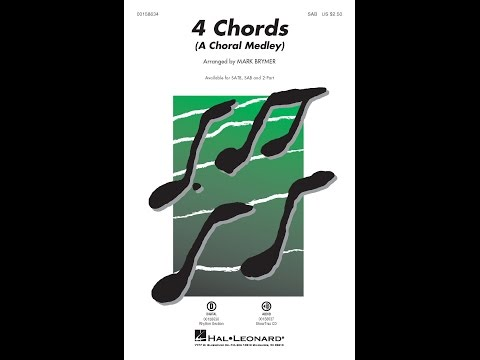 4 Chords (A Choral Medley) (SAB) - Arranged by Mark Brymer