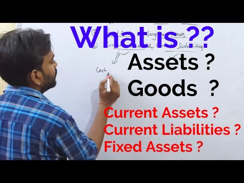 What is Assets,Goods, Current Assets, Current Liability,Fixed assets