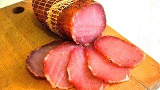 Карбонад свиной сыровяленый (цельномышечная сыровяленая ветчина) проще не придумать.
