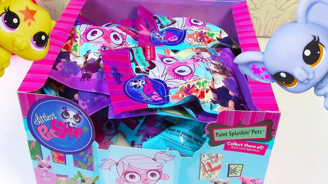 LPS Blind Bag HAUL Littlest Pet Shop Paint Splashin BOX ...