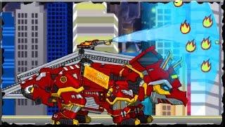 Dino Robot Triceratops Vs Police T-Rex Terminator Game (Full Game)