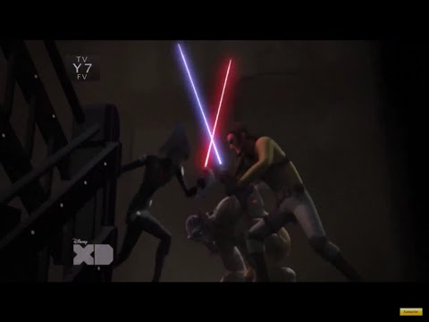 The Seventh Sister and The Fifth Brother chasing Kanan and Zeb