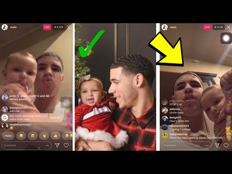 LAMELO BALL HAVING FUN WITH LONZO BALL'S BABY DAUGHTER ON INSTAGRAM LIVE 🅱️🅱️🅱️