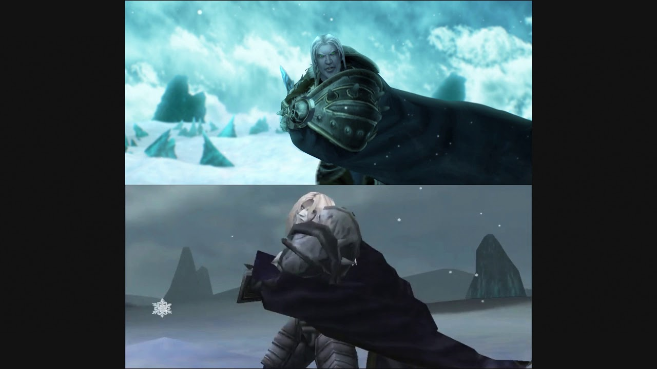 Arthas Vs Illidan Remastered Vs Original Youtube