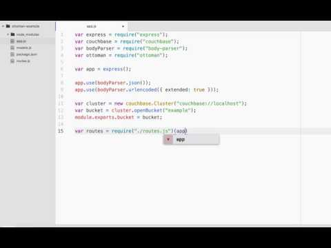 Developing an API with Node.js using Couchbase NoSQL and Ottoman