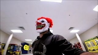 killer clown prank gone wrong cops called running from mall security