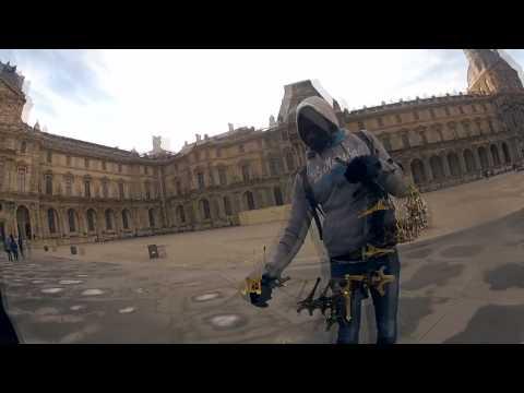 Go Pro in Paris - Skating around on my Globe
