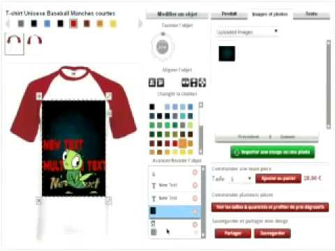 Custom Online T Shirt Design Software by No-Refresh to Design