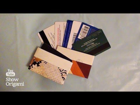 Визитница для дисконтных карт своими руками (оригами)