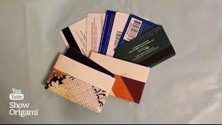 видео визитница для пластиковых карт