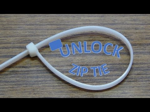 Life Hack #1: How-to Unlock and Re-use a Zip Tie (Cable Tie)