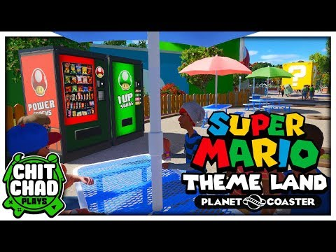 Custom Vending Machines! | Super Mario Theme Park - Planet Coaster