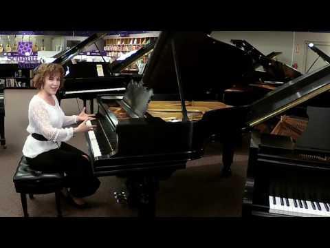 Used Steinway Model A Ebony Satin  Grand Piano at Schmitt Music Edina