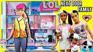 Barbie Helps LOL Family Move to  New LOL Surprise Dollhouse with Pool