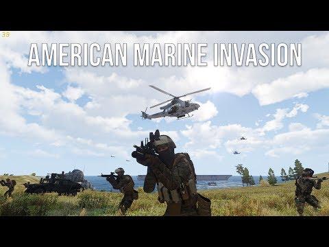 AMERICAN MARINE INVASION - World War 3 - Arma 3 - Episode 1