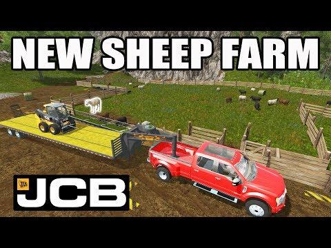 FARMING SIMULATOR 2017 | NEW SHEEP FARM + JCB SKID LOADER | EP #19