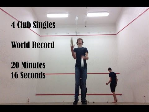 4 Club Singles World Record  [20:16] - Felix Juggler (08/01/17)