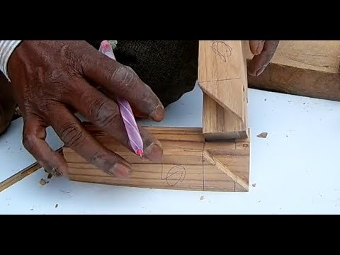 Dovetail Hand Cutting Wooden Joint - Mitred Bridle Joint - Indian Ancient Carpentry