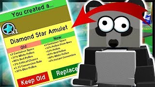 *DIAMOND* STAR AMULET, 30 UNIQUE GIFTED BEE TYPES! | Roblox Bee Swarm Simulator