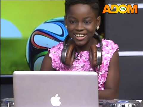 DJ Switch mixing the beats for Christmas Celebration on Adom TV (25-12-18)