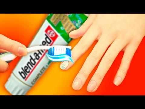 СОВЕТЫ И ТРЮКИ ПО МАНИКЮРУ| Лайфхаки для ногтей