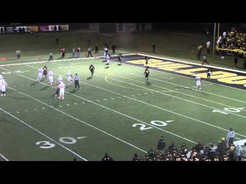 Olivet College at Adrian game-winning touchdown throw