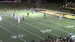 Olivet College at Adrian game-winning touchdown throw