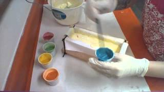 Making Sweet Honeysuckle Soap