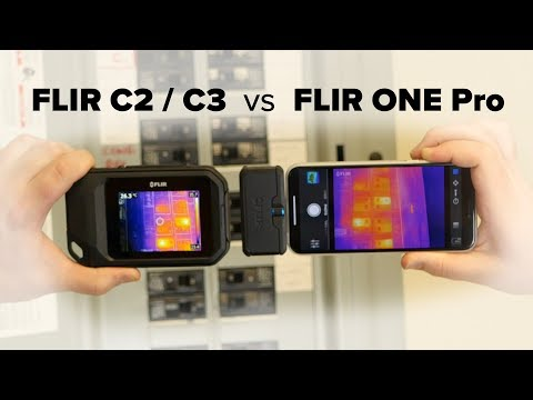 FLIR C2 / C3 vs FLIR ONE Pro Thermal Camera Comparison