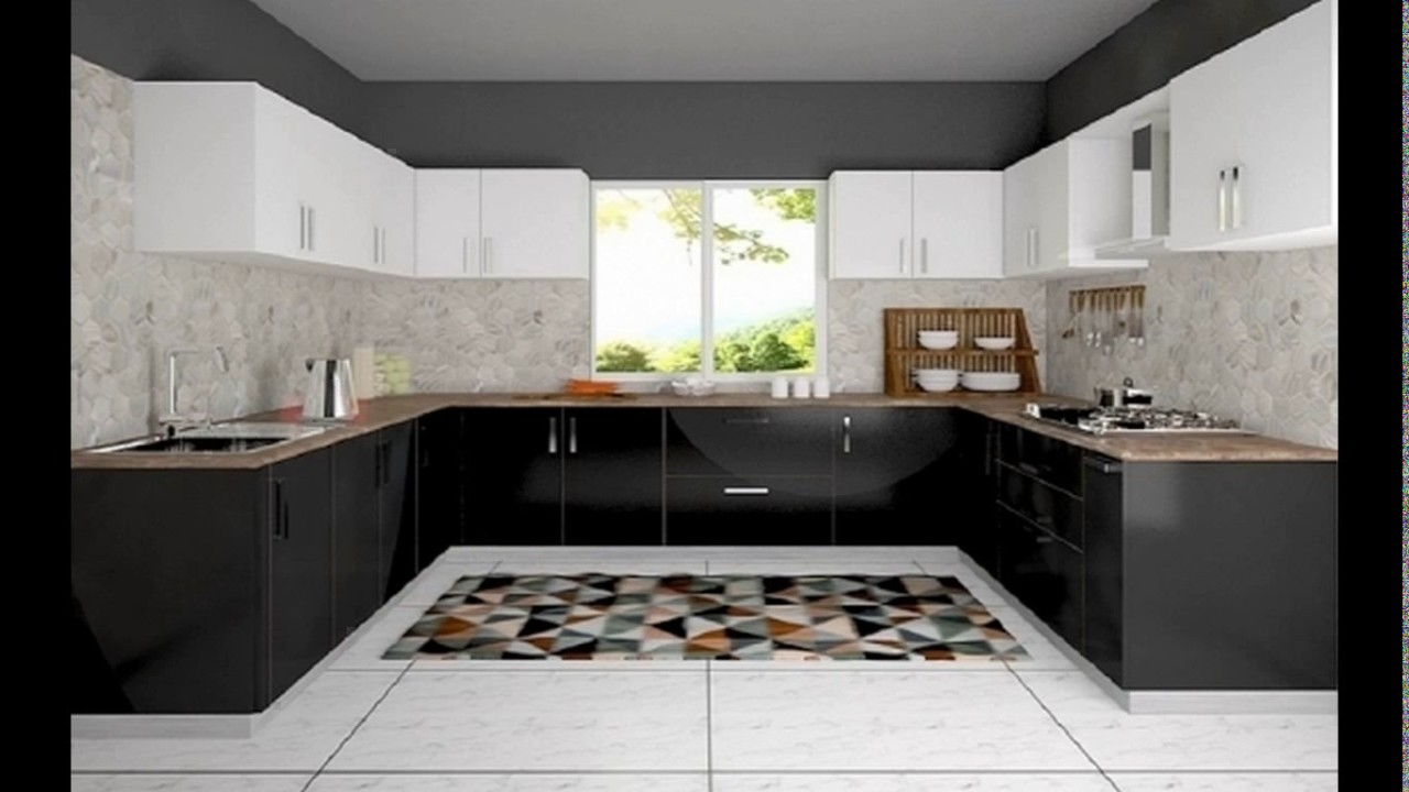 Latest modular kitchen design in indian youtube for Latest kitchen furniture design