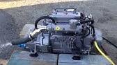 18Hp 3 Cylinder Yanmar Diesel Start Up - YouTube
